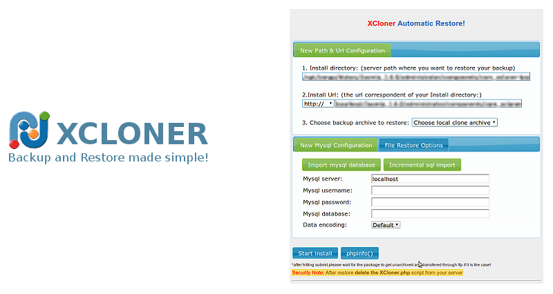 Having a hard time restoring your site using XCloner?