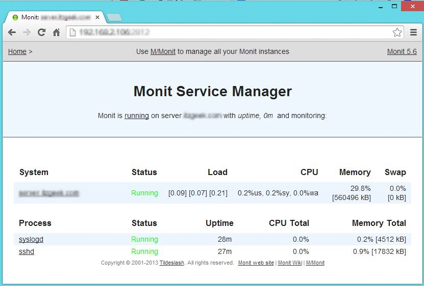 Monitoring Linux Systems and Services using Monit
